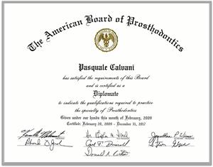 Diploma del Dr. Lino Calvani